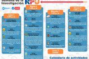 CALENDARIO DE ACTIVIDADES PARA LA SEMANA DE LA INVESTIGACIÓN RPU, DEL 05 AL 09 DE OCTUBRE
