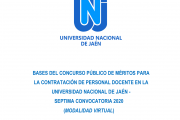 VII CONVOCATORIA DE CONCURSO PÚBLICO PARA CONTRATACIÓN DE DOCENTES EN LA UNIVERSIDAD DE JAÉN