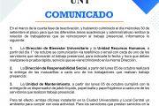 COMUNICADO DE RECURSOS HUMANOS AL PERSONAL QUE SE INCORPORA A LABORES PRESENCIALES